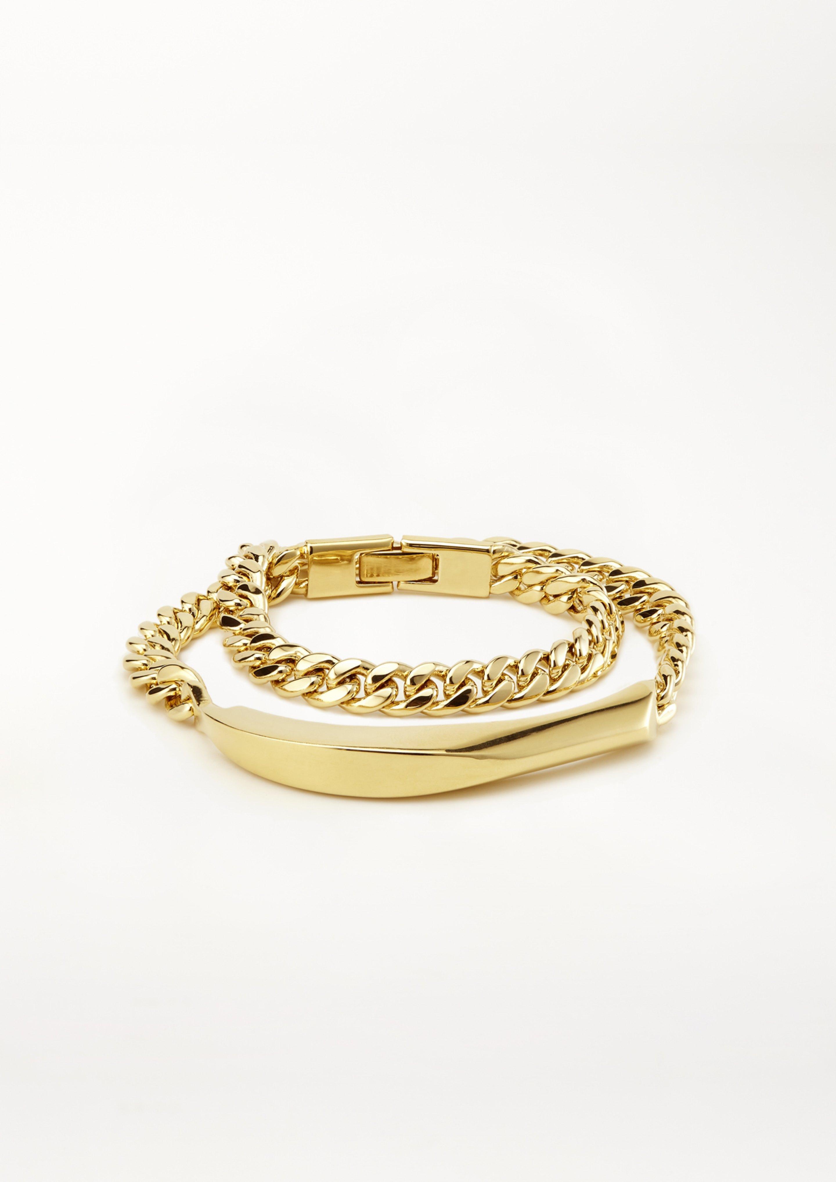 timeless bracelet WASHEDSTONE NR 10 WICKELARMBAND IN GOLD/SILBER KETTENGLIEDER XENIABOUS HANDGEMACHTER SCHMUCK