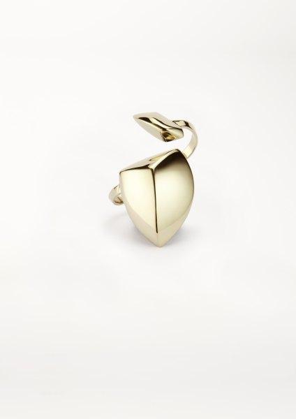 xenia bous schmuck Golden Stone 22 Big Double Ring gold silber