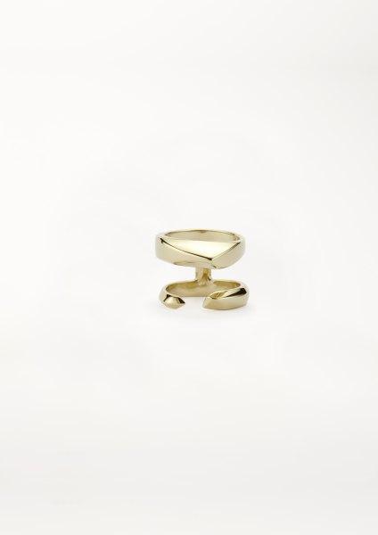 xenia bous schmuck Golden Stone 23 Small Double Ring gold silber