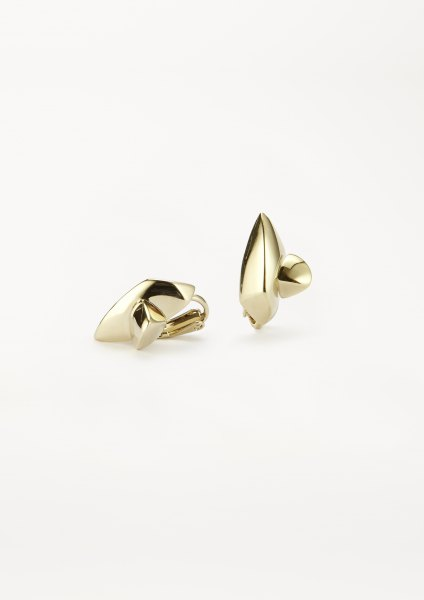 xenia bous jewellery golden stone Small Double Stone 06 earring gold