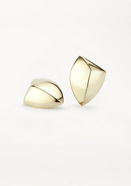 xenia bous jewellery golden stone Big Diamond Stone 08 Earring gold