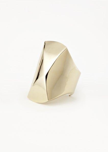 xenia bous jewellery golden stone 14 Maxi Diamond Cuff gold