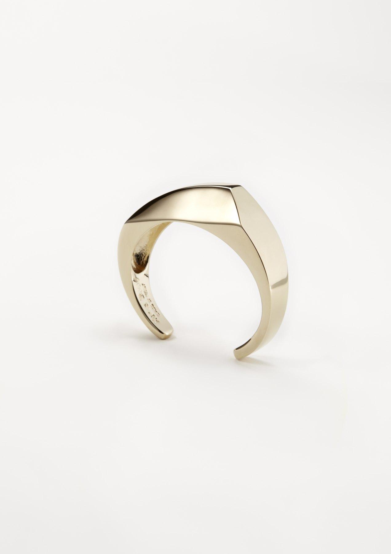 xenia bous jewellery golden stone 20 small diamond cuff gold silver