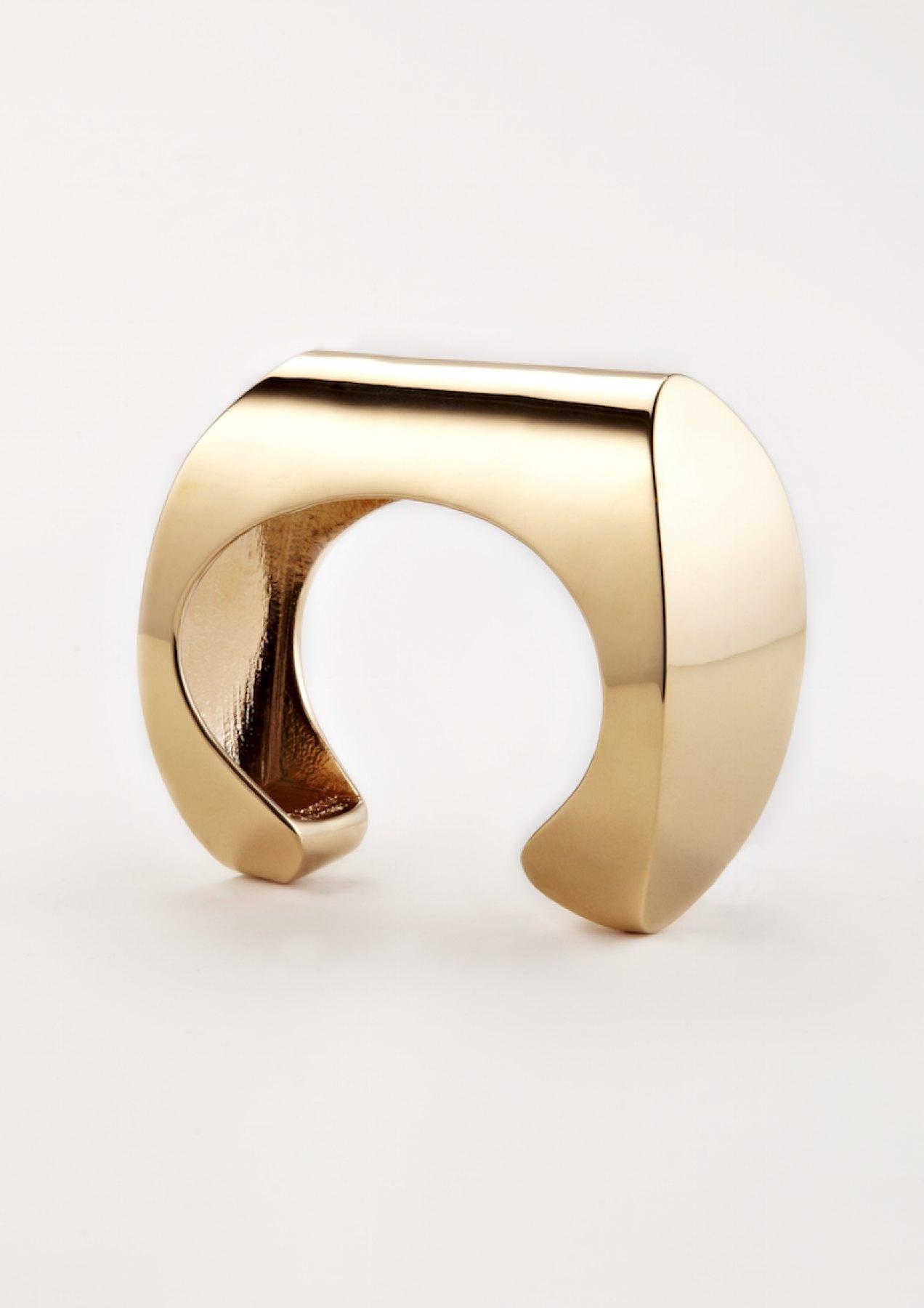 xenia bous jewellery Golden Stone 34 Cuff gold silver