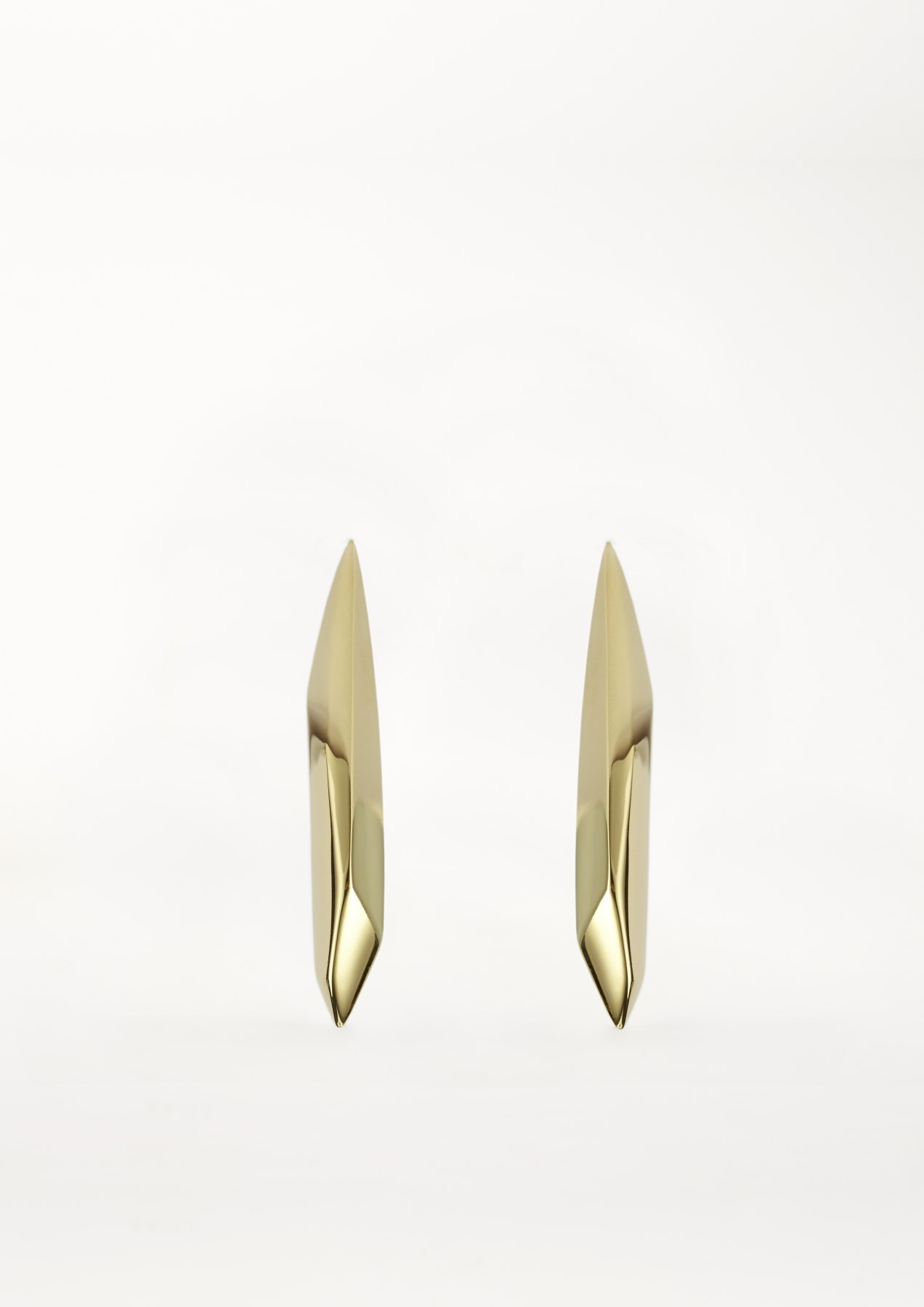 xenia bous jewellery Golden Stone 42 Long Diamond Earring gold silver