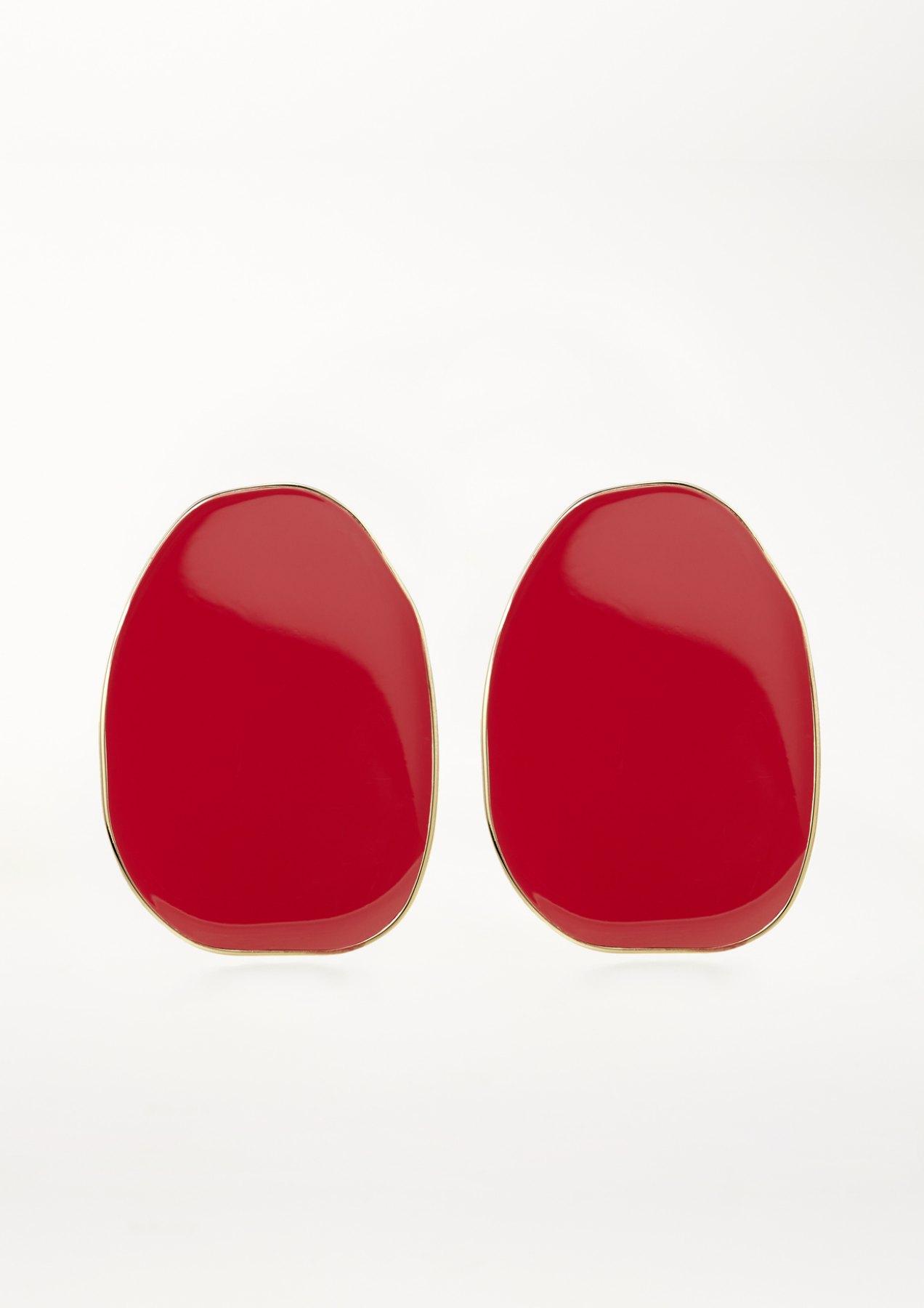 xenia bous jewellery coloured stone 01 earrings feuerrot red