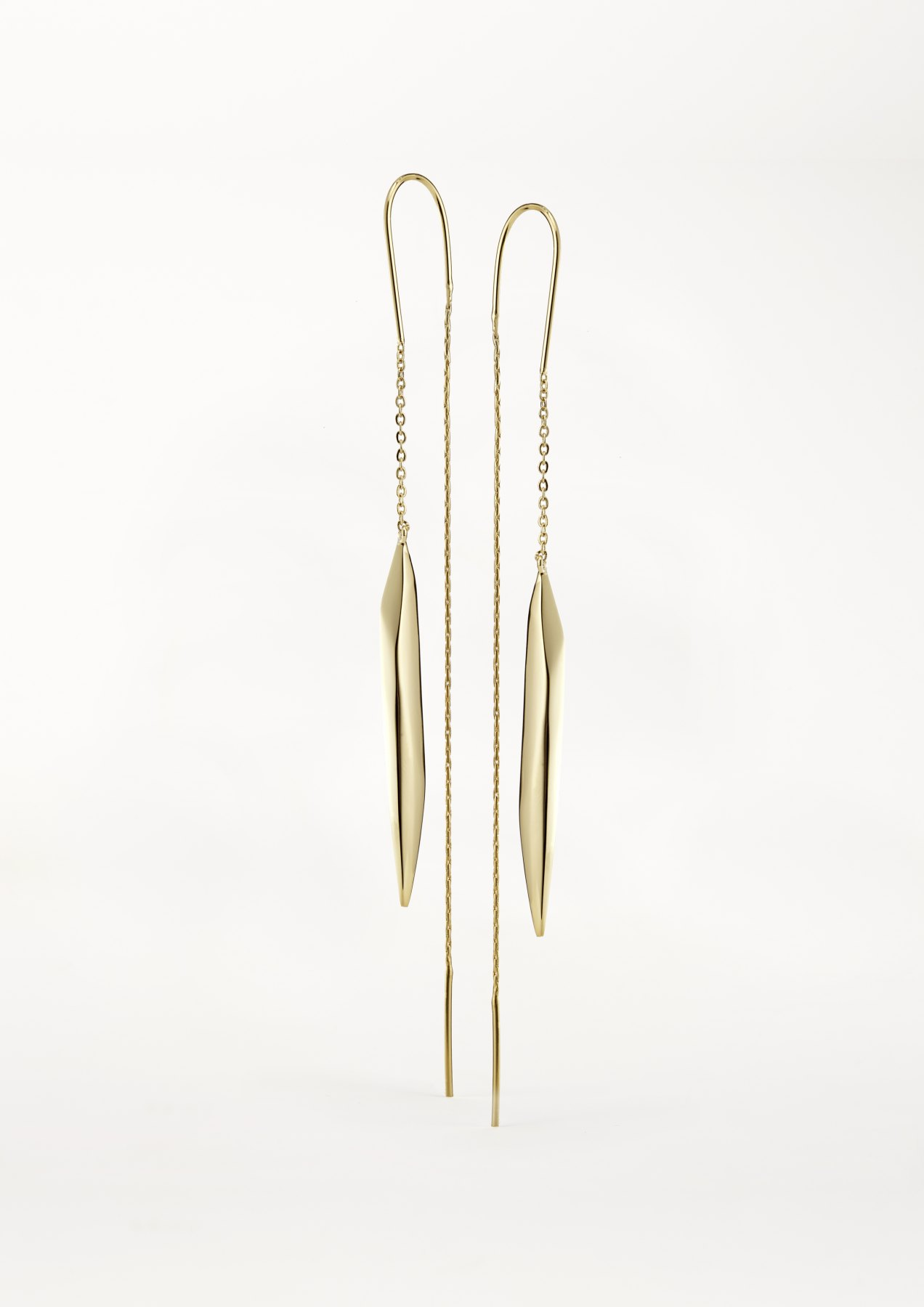 xenia bous jewellery washed stone 03 falling icicle earrings gold silver