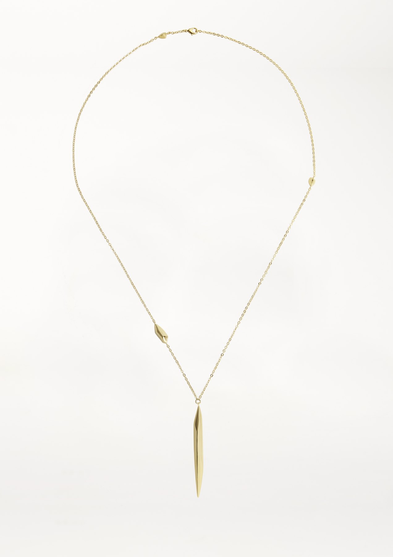 xenia bous jewellery washed stone 11 stream dust necklace gold silver