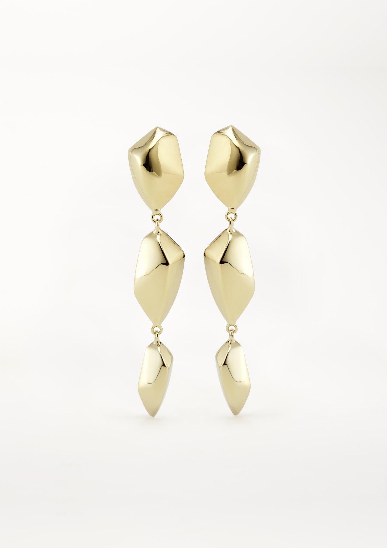 xenia bous jewellery washed stone 08 stars in the sky chandelier earrings gold silver
