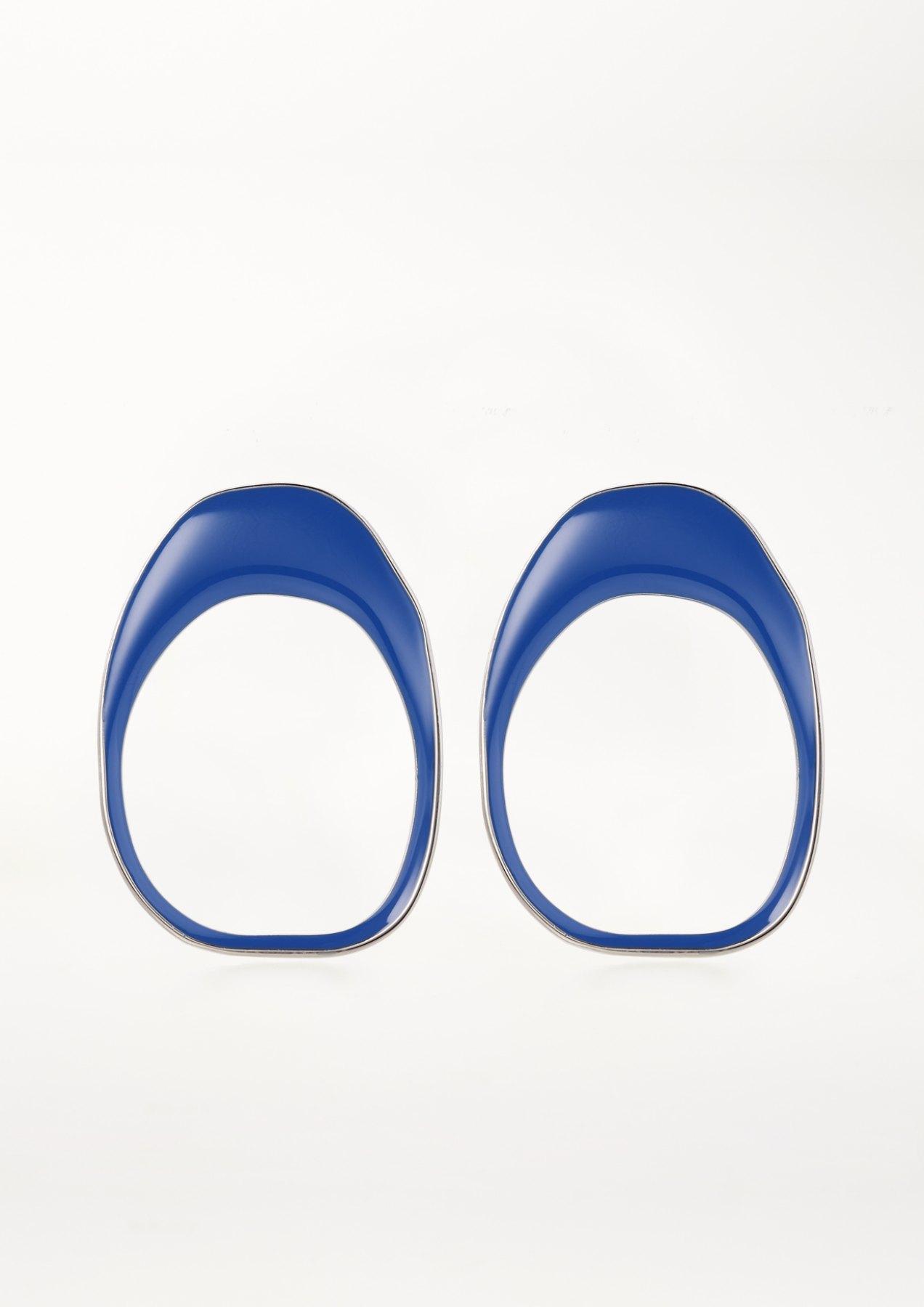 xenia bous jewellery coloured stone 02 earrings blue blau