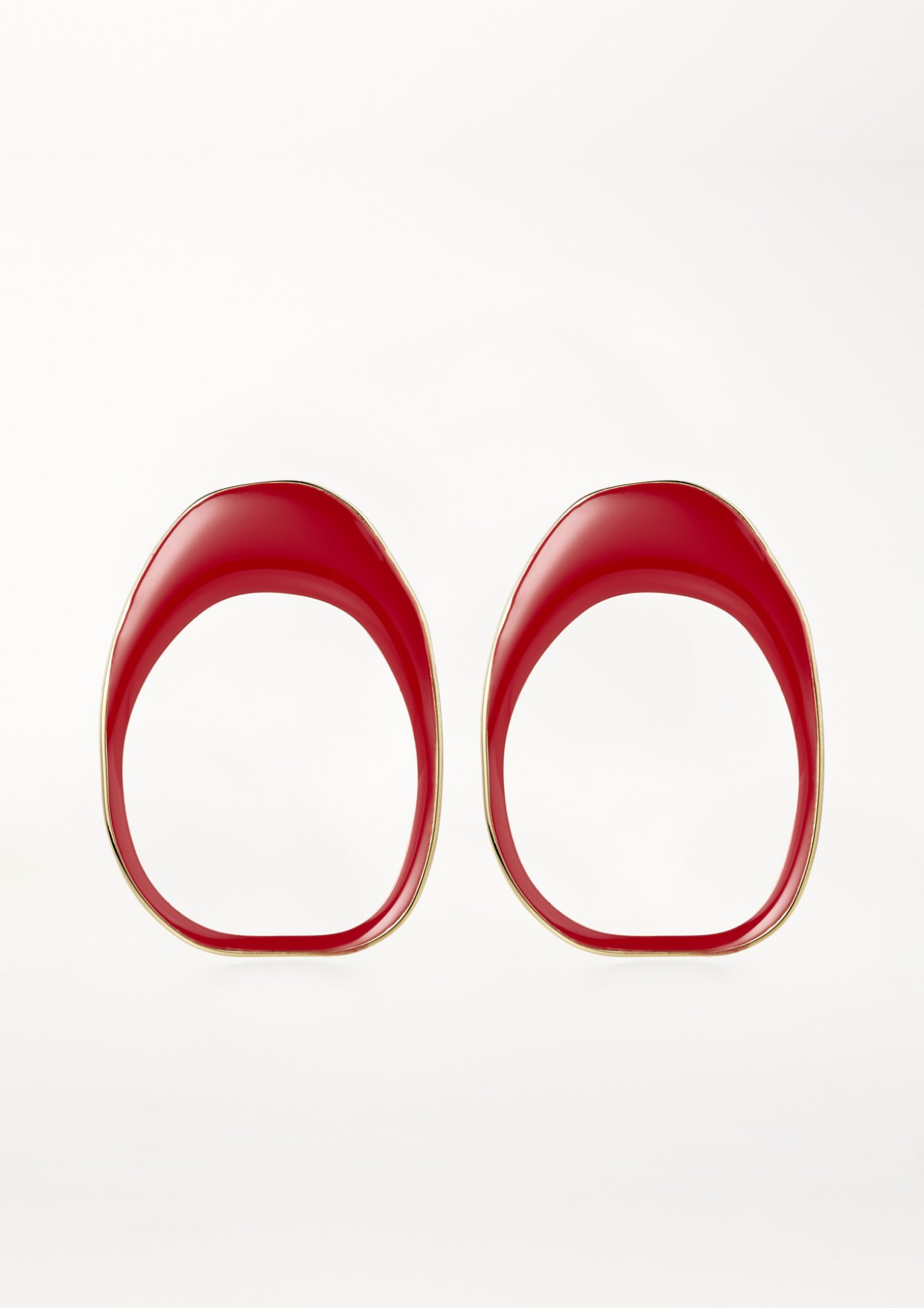 xenia bous jewellery coloured stone 02 earrings feuerrot red