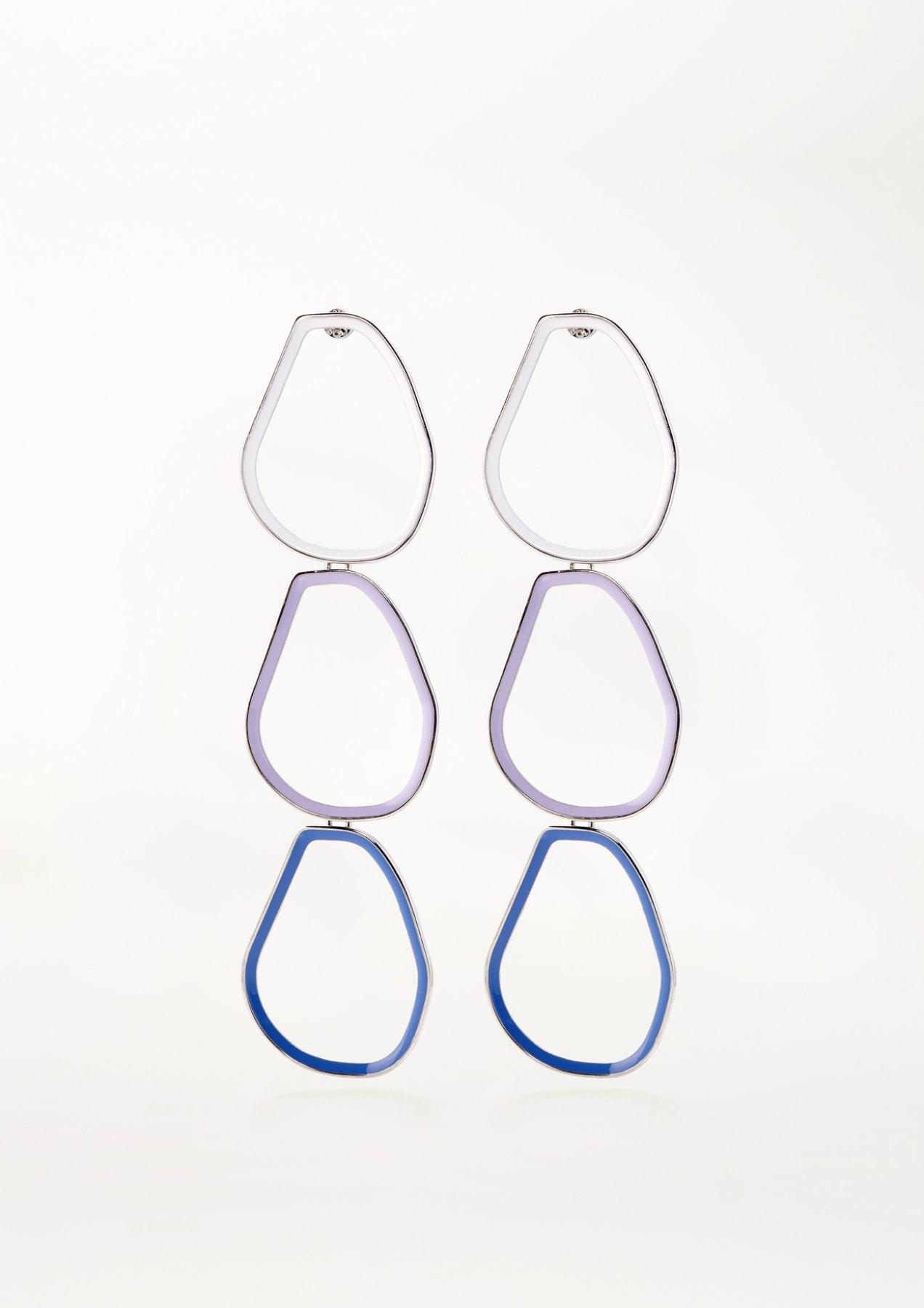 xenia bous jewellery coloured stone 05 earrings multicolour white lilac blue