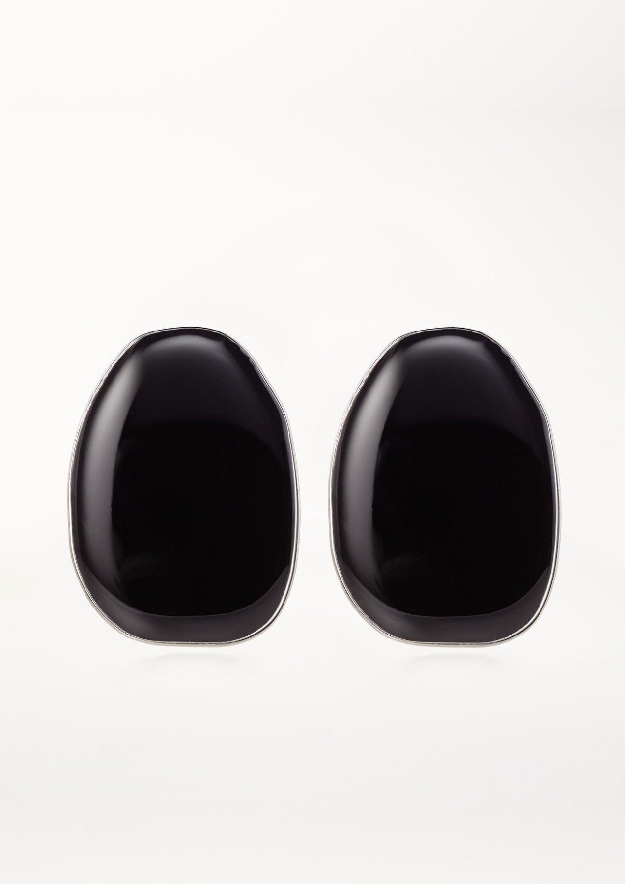 xenia bous jewellery coloured stone 01 earrings schwarz black