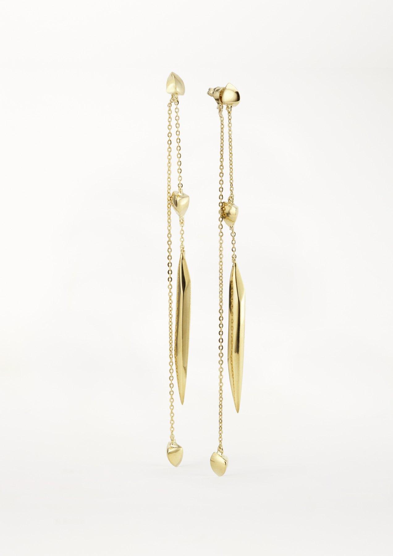 xenia bous jewellery washed stone 04 pendulum stone earrings earrings gold