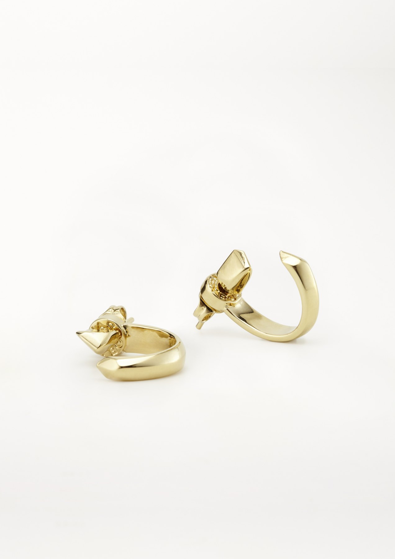 xenia bous jewellery washed stone 09 Tiny Hoops earrings gold silver
