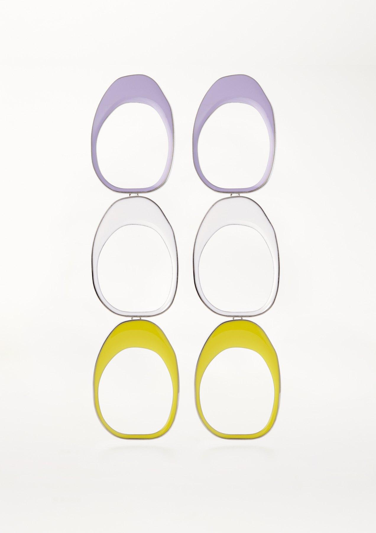 xenia bous jewellery coloured stone 03 earrings multicolour flieder weiß gelb