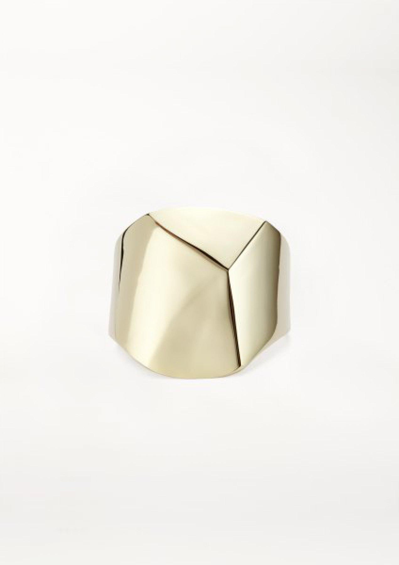 xenia bous jewellery small diamond stone 19 cuff gold silver