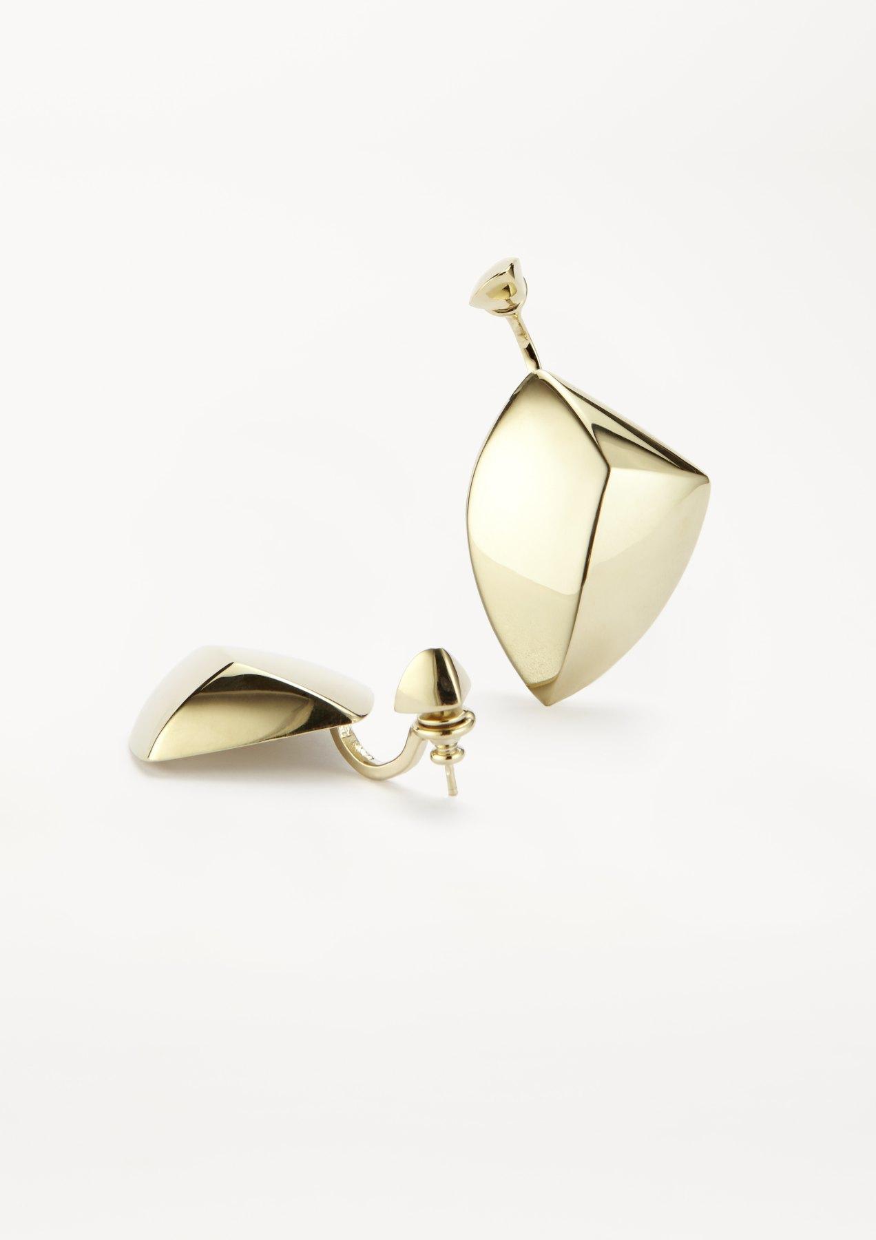 xenia bous jewellery golden stone Big Flying Stone 02 Earring gold
