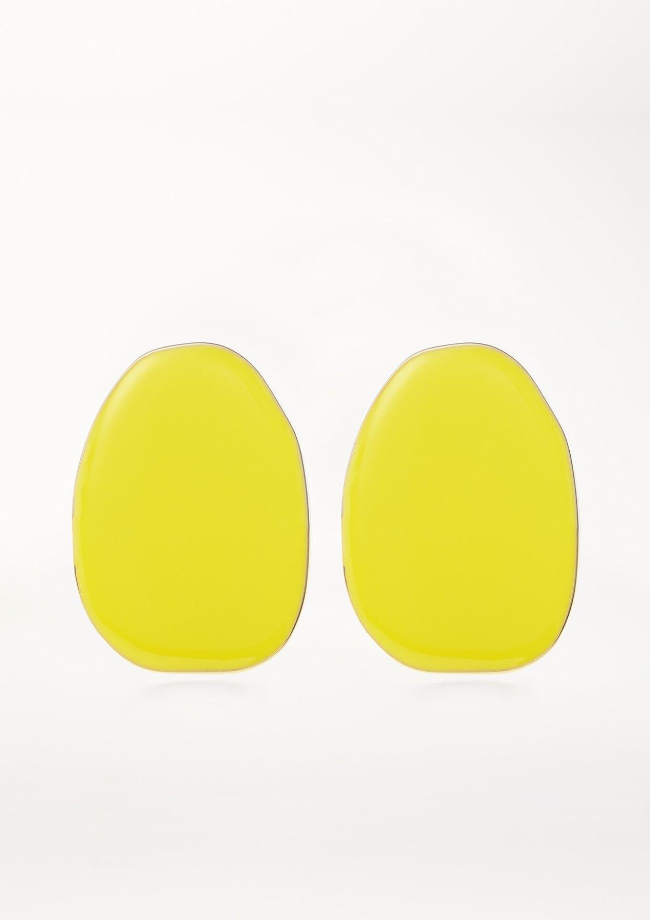 xenia bous jewellery coloured stone 01 earrings knallgelb yellow
